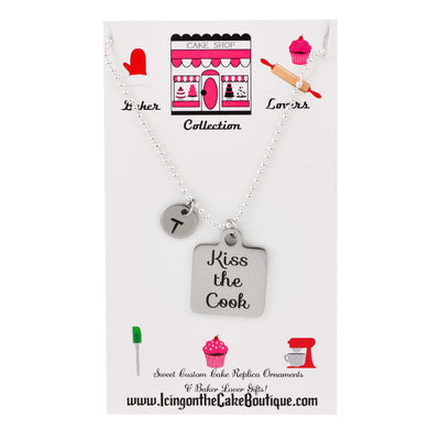 Copy of Monogram Kiss the Cook BAKER LOVERS NECKLACES