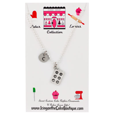 Monogram Cupcake/Muffin Pan LOVERS NECKLACES