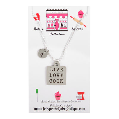 Monogram Live Love Cook BAKER LOVERS NECKLACES