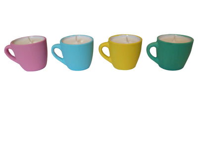 Coffee Lovers Mini Coffee Cup Candle-Comes with a FREE Coffee Cup Charm