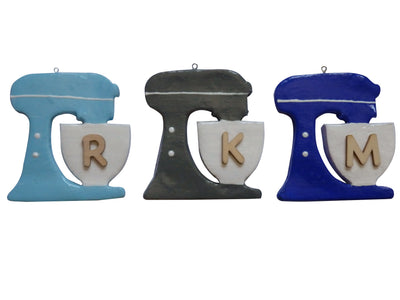Sky Blue Personalized Baker Lover Mixer Custom Initial Monogram Ornament/Magnet