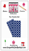 Baker Lovers Dream Tea Towels Set of 2-Navy Circles