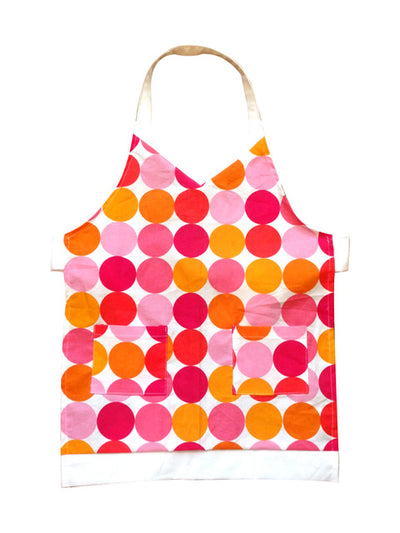 Large Polka Dots Babycakes Toddler Apron