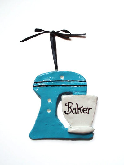 Baker Lover Mixer Custom Initial Monogram or Saying Ornament/Magnet