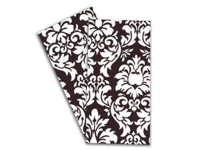 Baker Lovers Dream Tea Towels Set of 2-Black Damansk