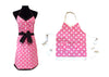 Mommy and Me Pink Polka Dots Baker Aprons Gift Set