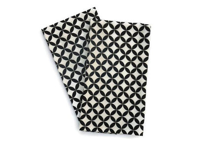 Baker Lovers Dream Tea Towels Set of 2-Modern Black Lattice