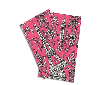 Baker Lovers Dream Tea Towels Set of 2-Chic Pink Paris