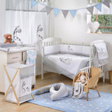 Gray Giraffe 4-Piece Crib Bedding Set - babymoonnursery