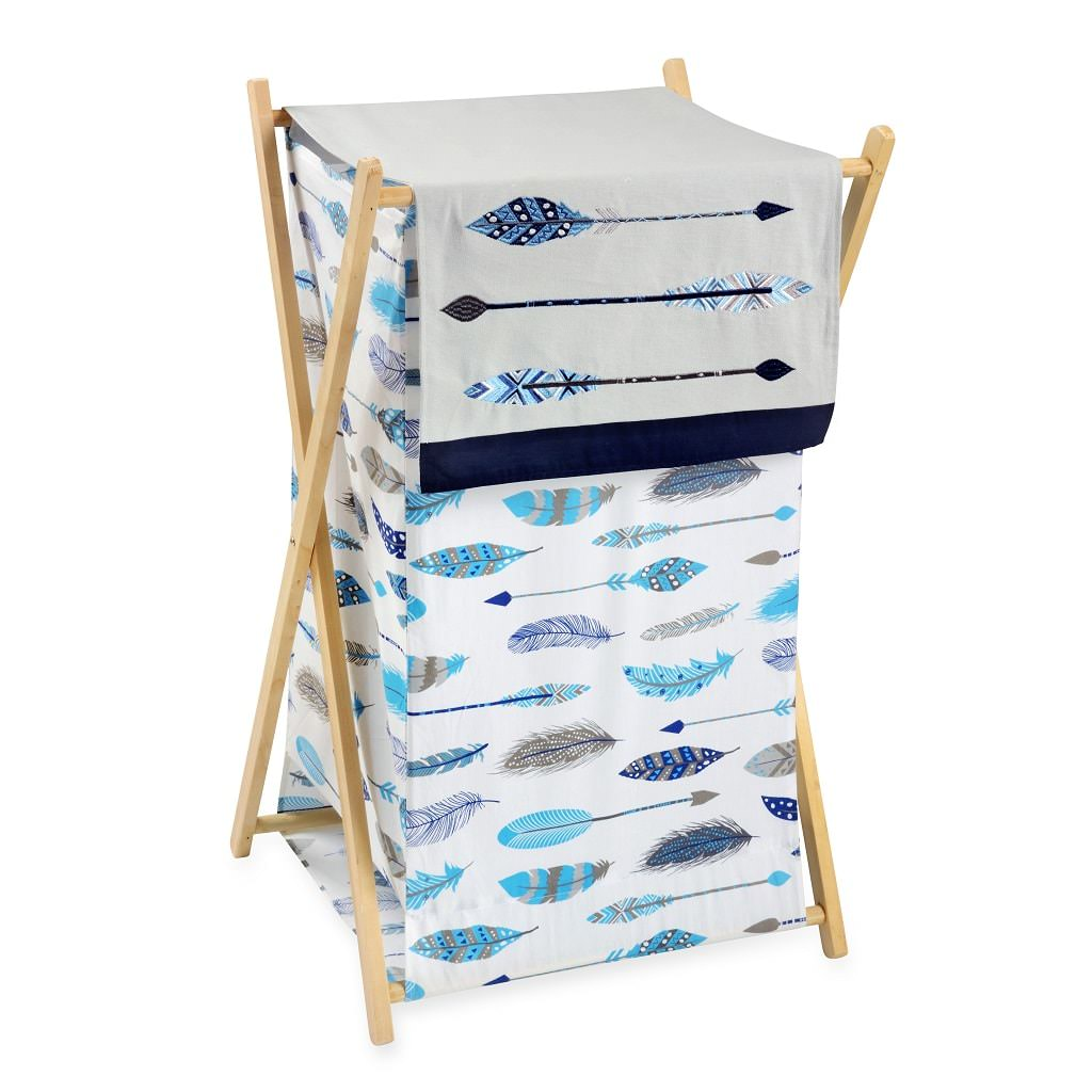 Blue Feather Hamper - babymoonnursery