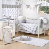 Gray Jungle Crib Bedding Set - babymoonnursery