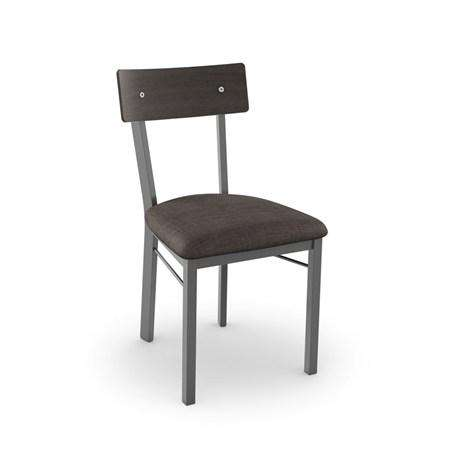 Lauren Dining Chair with Wood Veneer Backrest and Upholstered Seat by Amisco