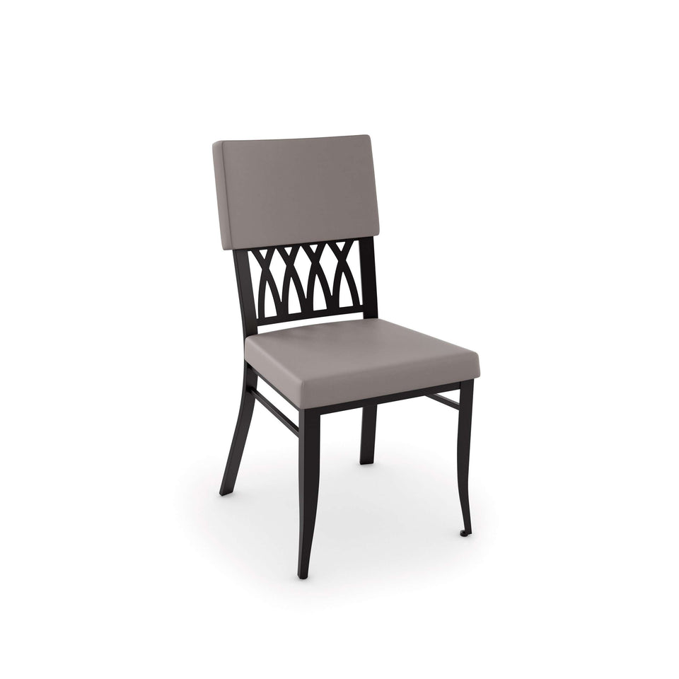 Oxford Dining Chair with Upholstered Seat and Backrest