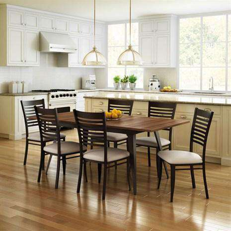 Edwin Dining Chair With Metal Frame And Upholstered Seat