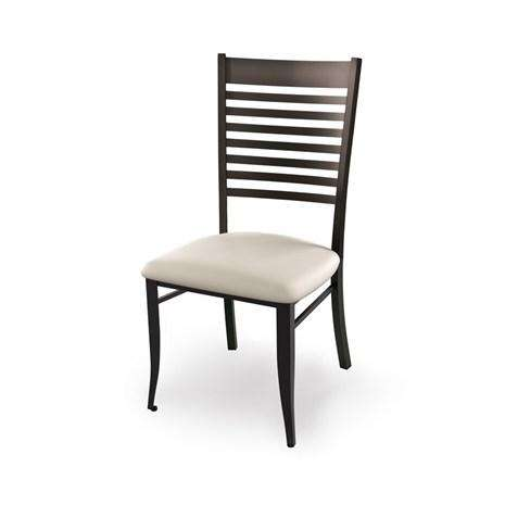 Edwin Dining Chair with Metal Frame and Upholstered Seat by Amisco