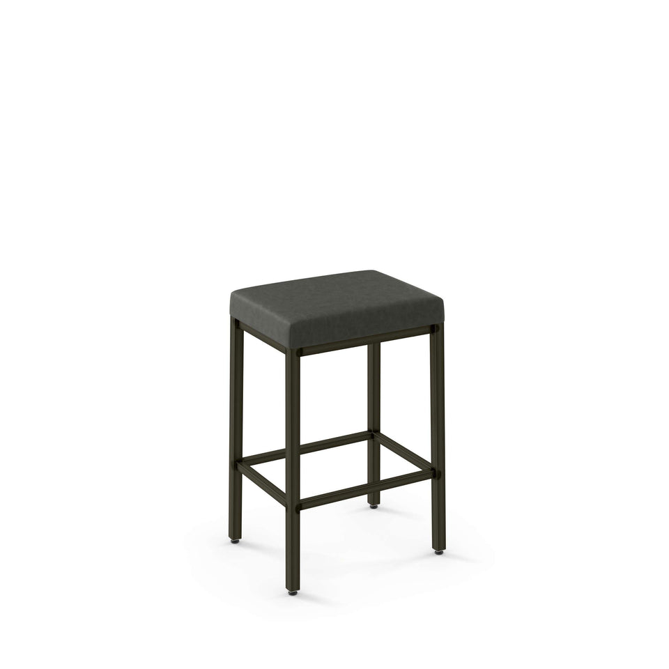 Amisco Bradley Non Swivel Counter Stool with Upholstered Seat
