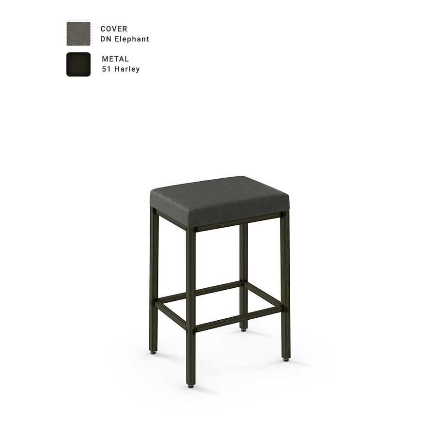 best sneakers c1ea6 fcb71 Amisco Bradley Non Swivel Bar Stool with Upholstered Seat