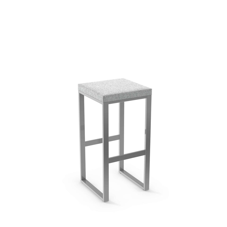 Aaron Bar Stool - Non Swivel Upholstered Seat by Amisco