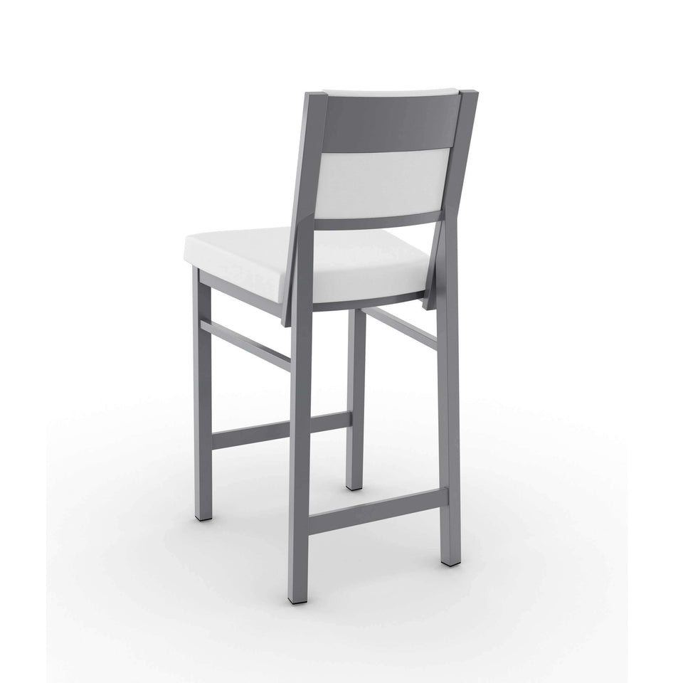Amisco Payton Non Swivel Counter Stool with Upholstered Seat