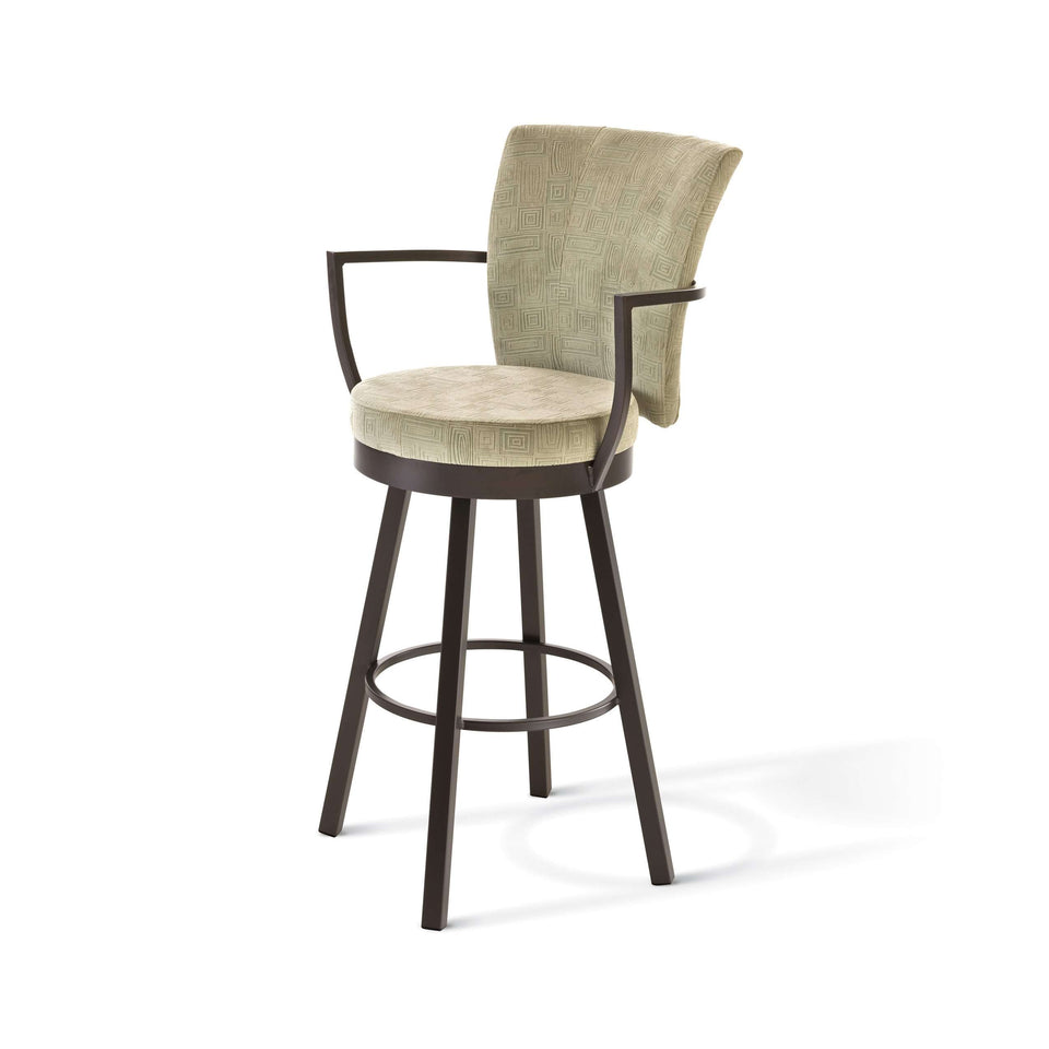 Cardin Swivel Counter Stool with Upholstered Seat and Backrest