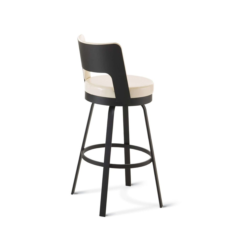 Amisco Brock Swivel Counter Stool with Upholstered Seat and Backrest