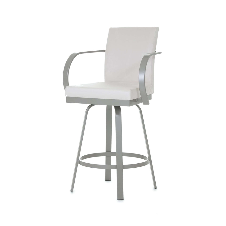 Amisco Lance Swivel Bar Stool with Upholstered Seat