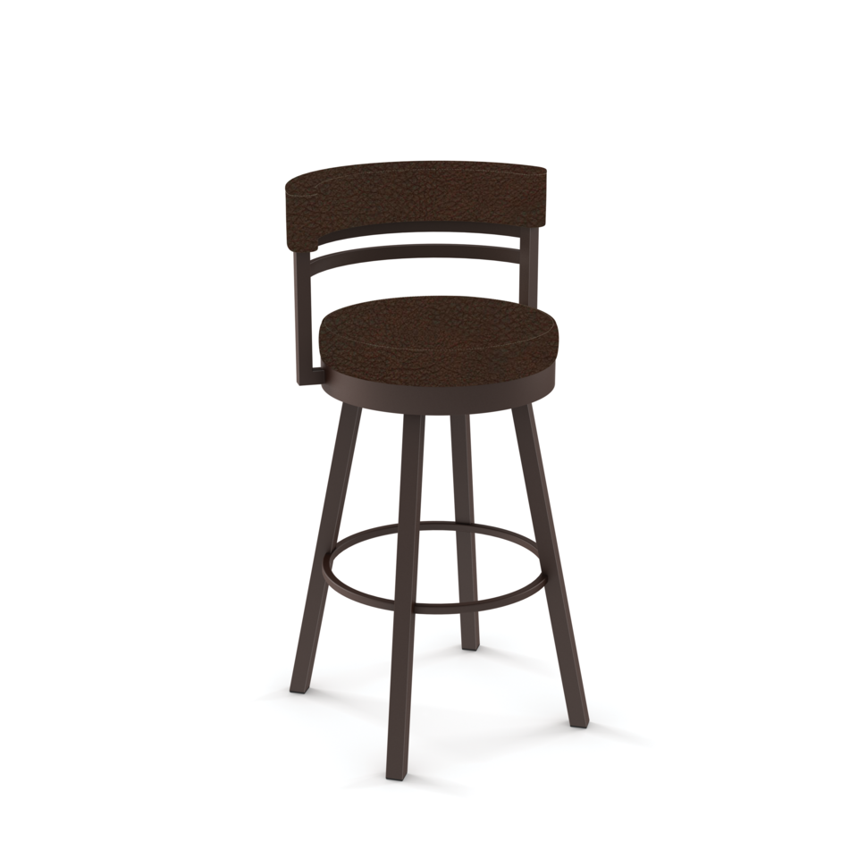 Ronny Swivel Bar Stool - Finish Options - Metal: 52 Oxidado | Cover: D8 Bark