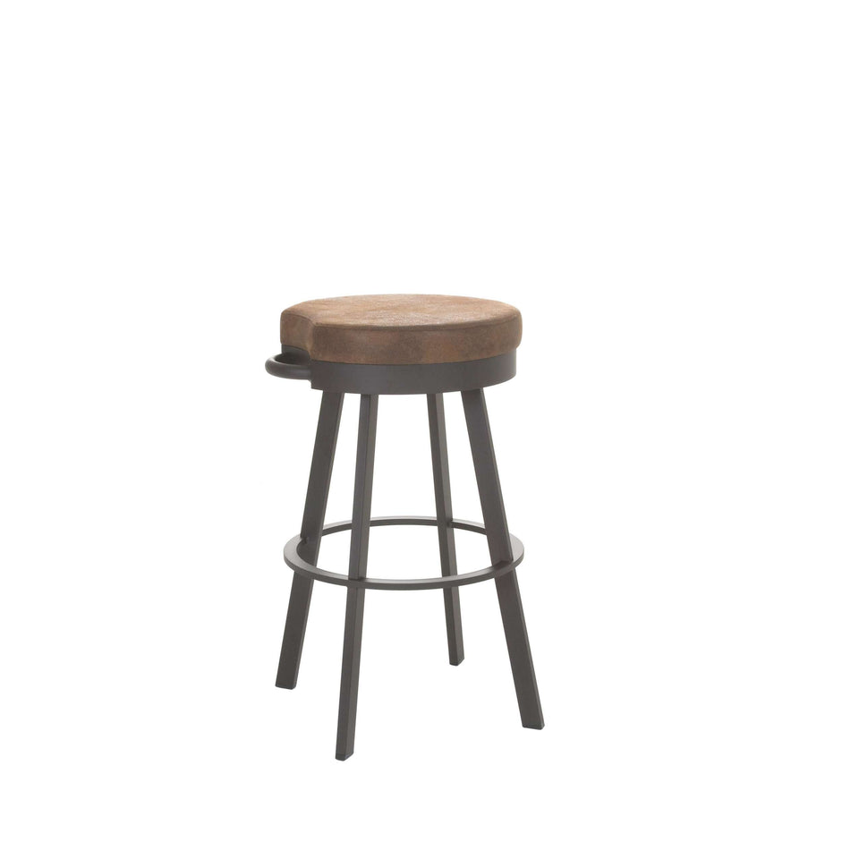 Bryce Swivel Spectator Stool with Upholstered Seat