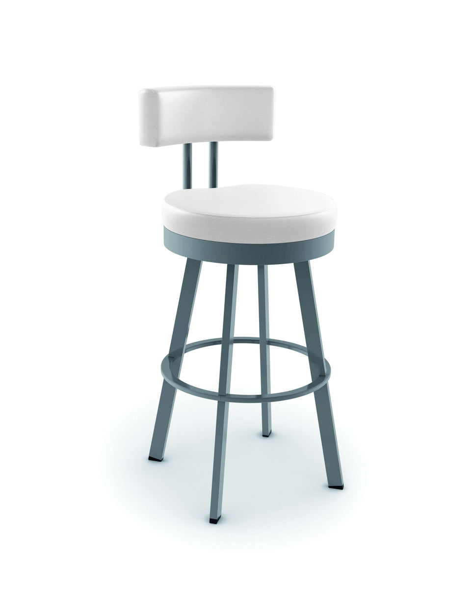 Amisco Barry Swivel Spectator Stool with Upholstered Seat and Backrest
