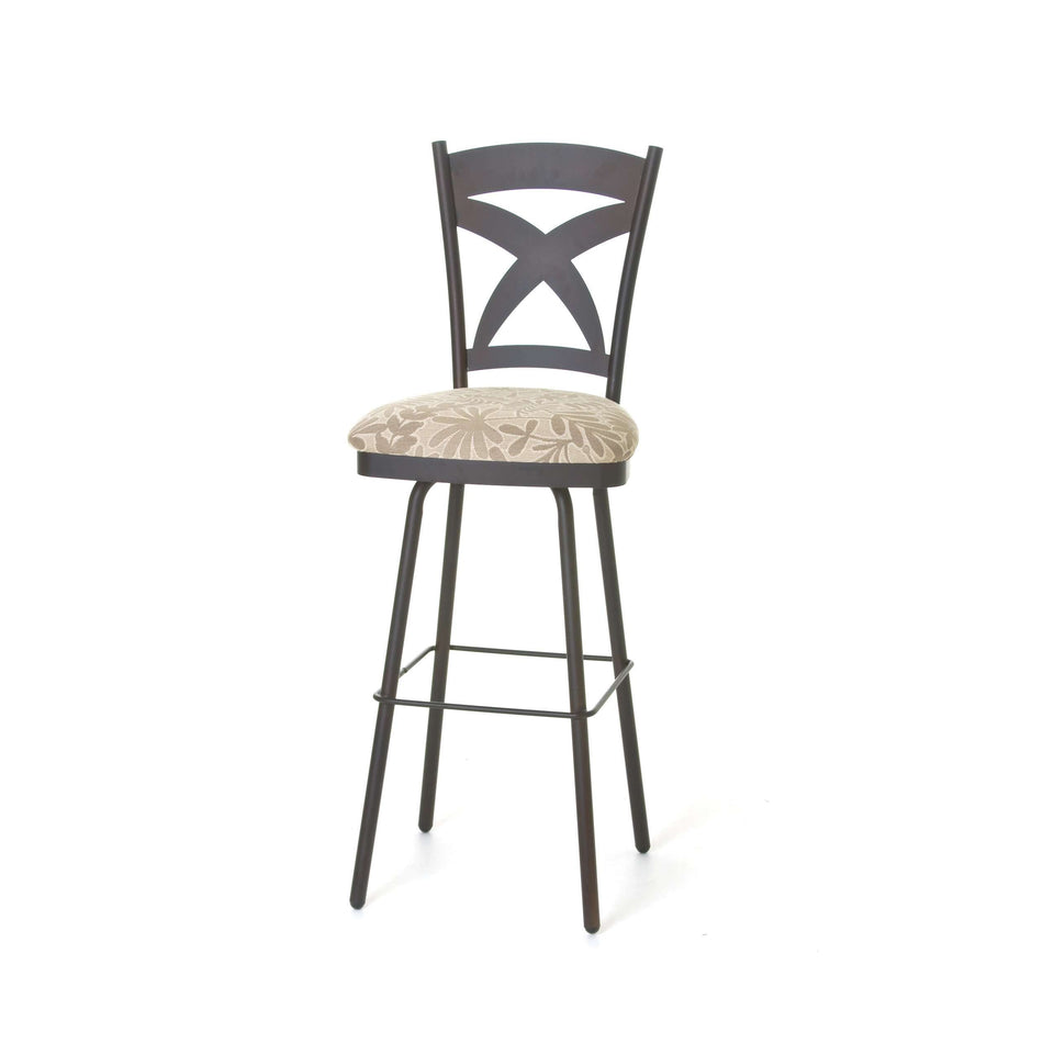 Amisco Marcus Swivel Bar Stool with wood accents and tasteful colors