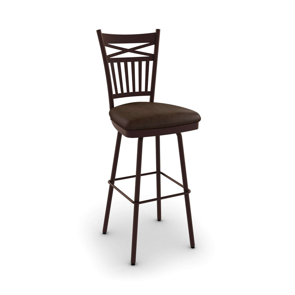 Garden Swivel Spectator  Stool with Upholstered Seat