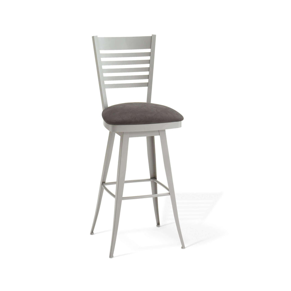 Edwin Swivel Bar Stool with Upholstered Seat