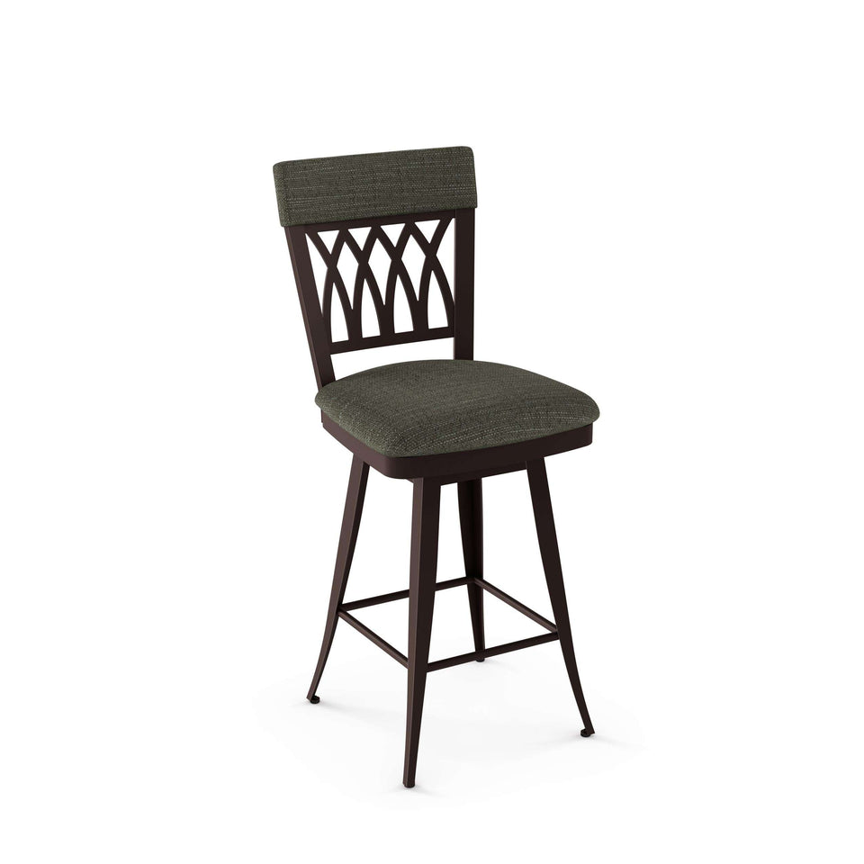 Amisco Oxford Swivel Bar Stool