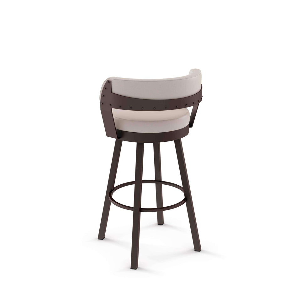 Russell Swivel Bar Stool with Upholstered Seat and Backrest