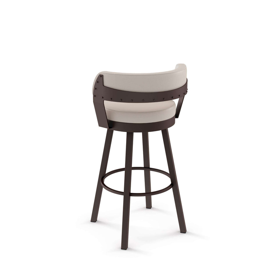 Russell Swivel Counter Stool with Upholstered Seat and Backrest