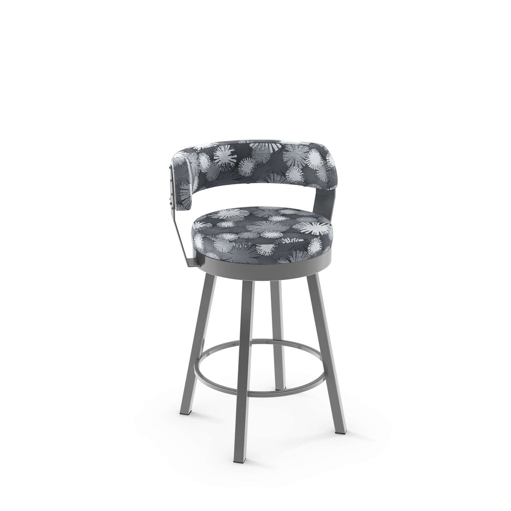 Russell Swivel Counter Stool With Upholstered Seat And