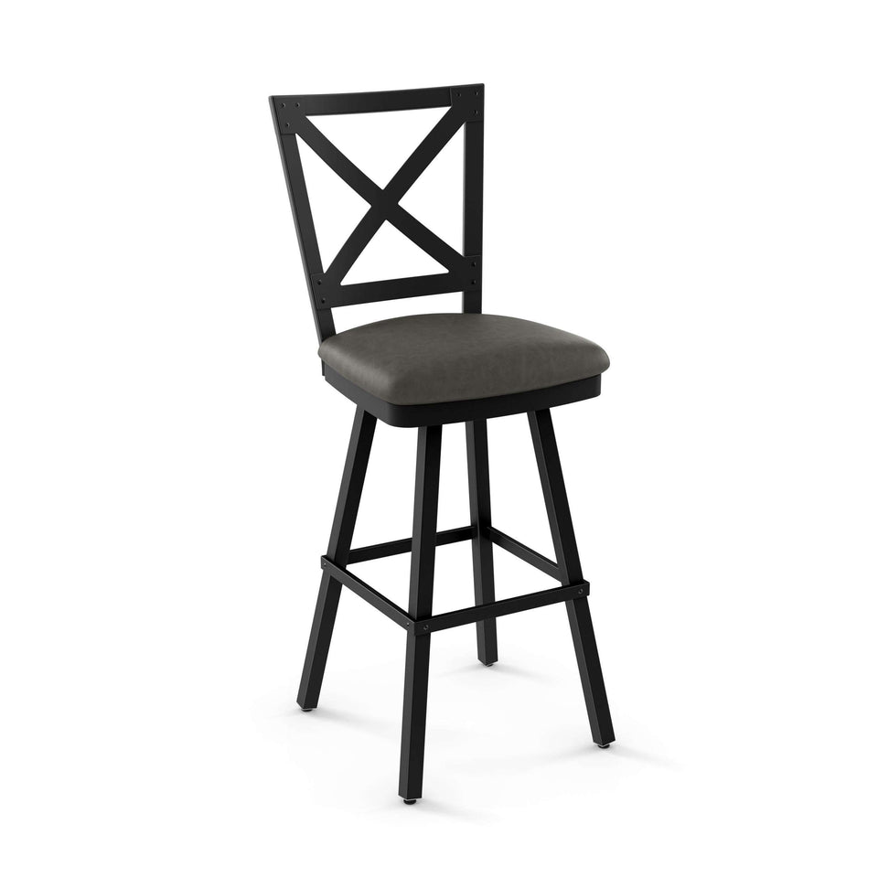Amisco Kent Swivel Bar Stool with Upholstered Seat