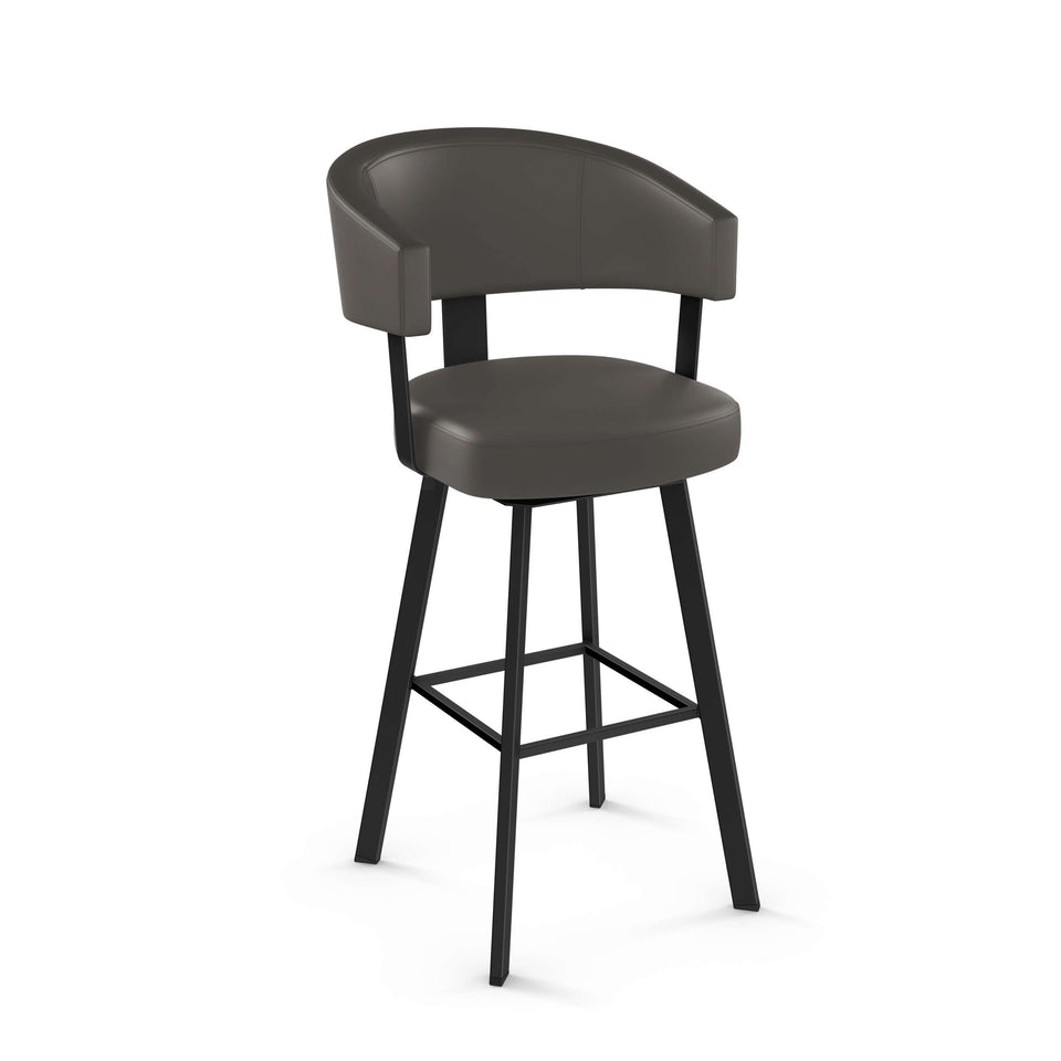 Grissom Swivel Spectator Stool with Upholstered Seat and Backrest