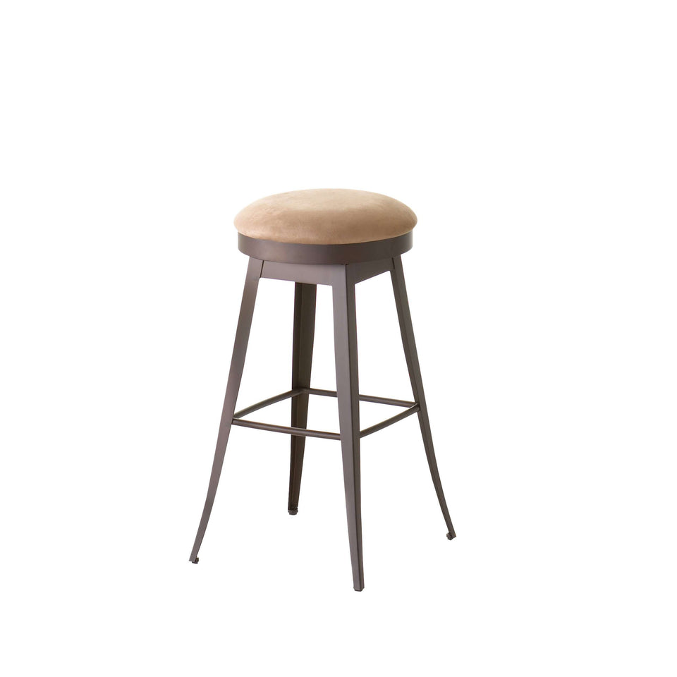 Grace Swivel Spectator Stool with Upholstered Seat