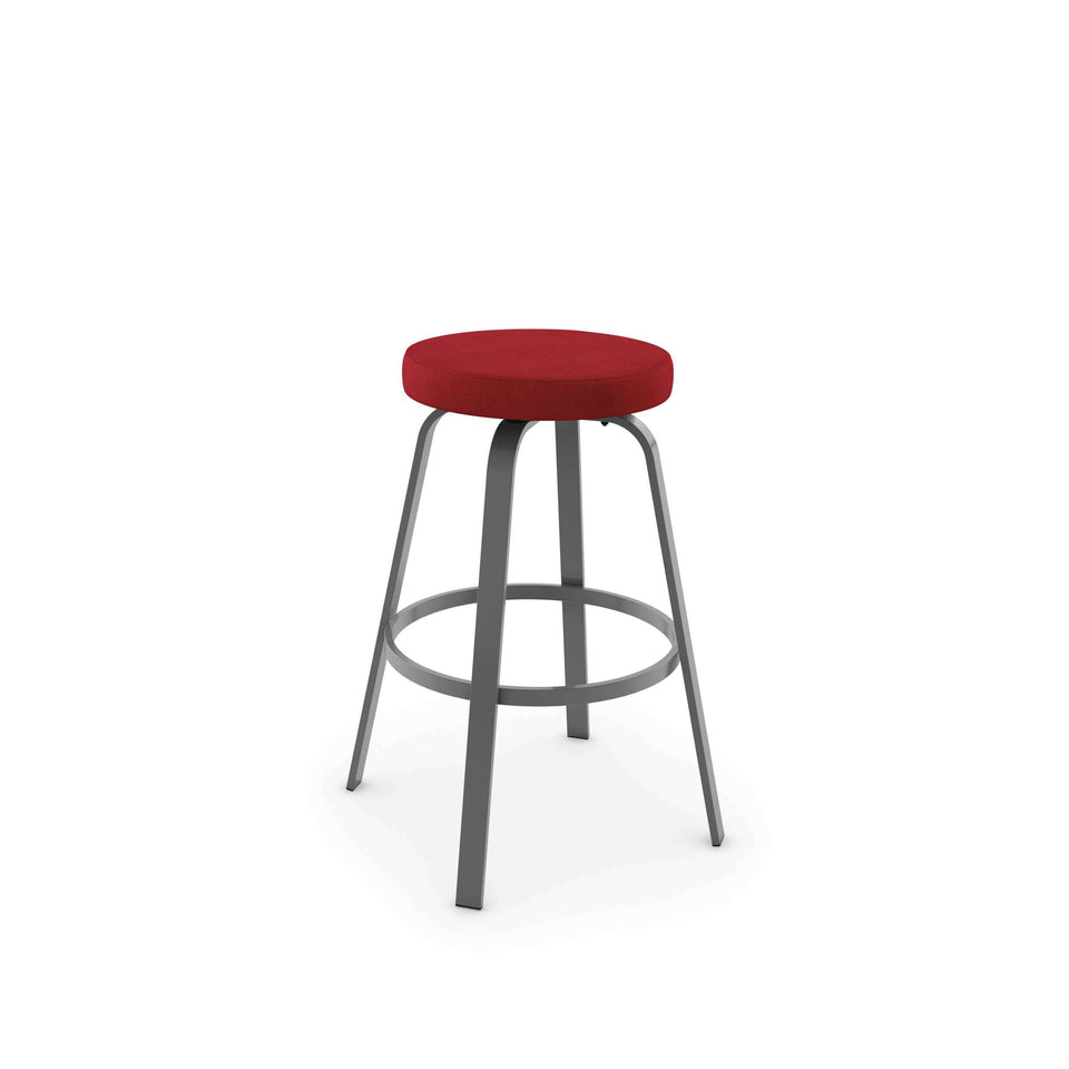 Amisco Reel Swivel Bar Stool with Upholstered Seat