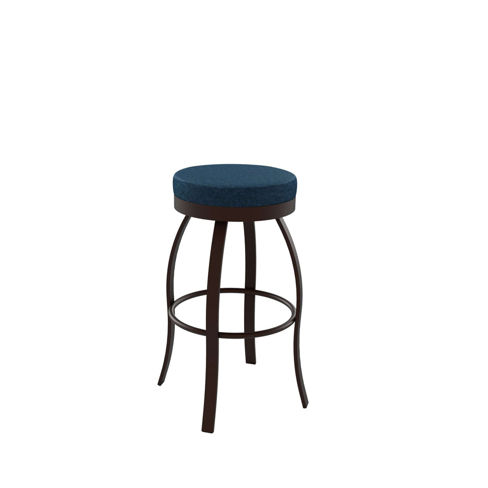 Swan Swivel Bar Stool with Upholstered Seat