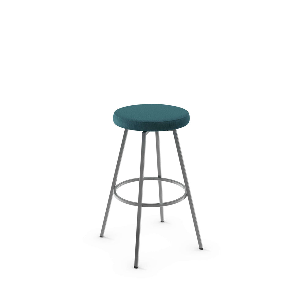 Hans Swivel Bar Stool with Upholstered Seat