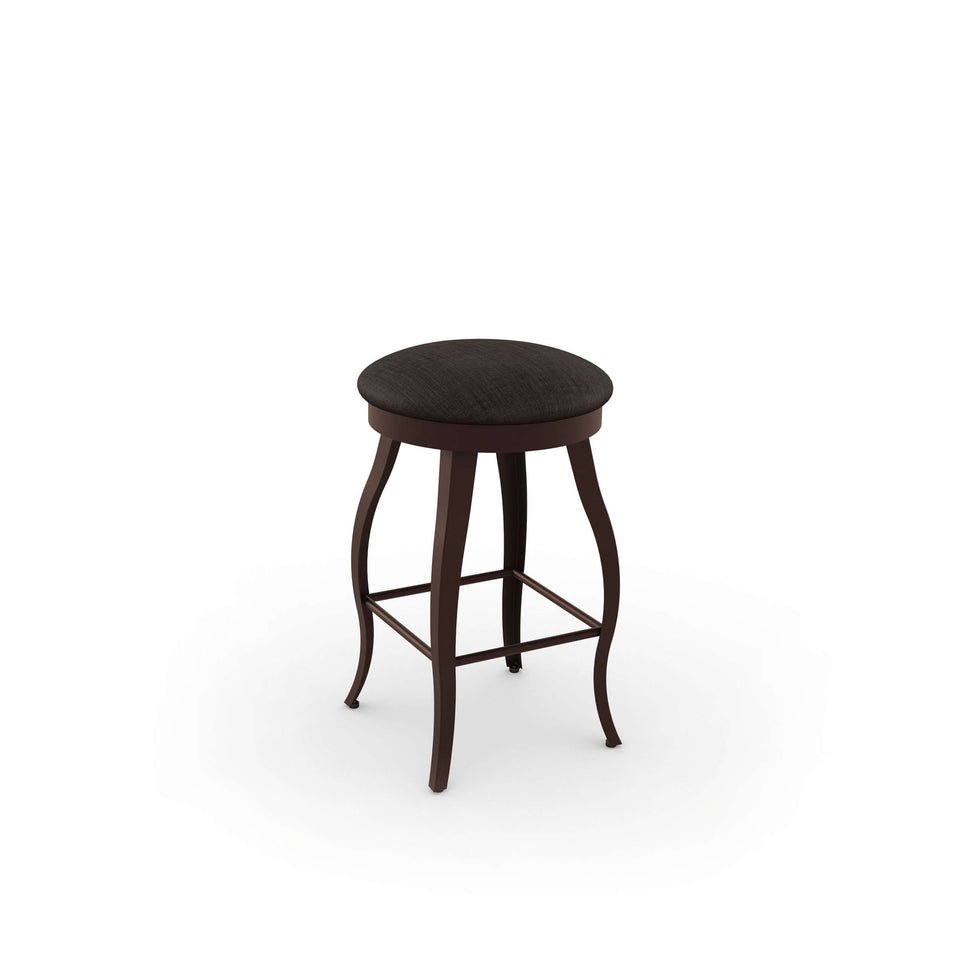 Amisco Pearl Swivel Bar Stool with Upholstered Seat
