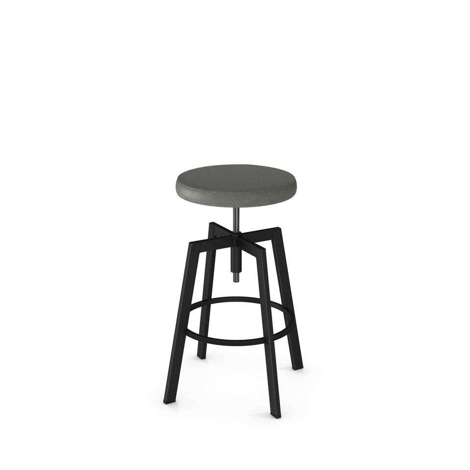 Amisco Architect Adjustable Stool with Upholstered Seat