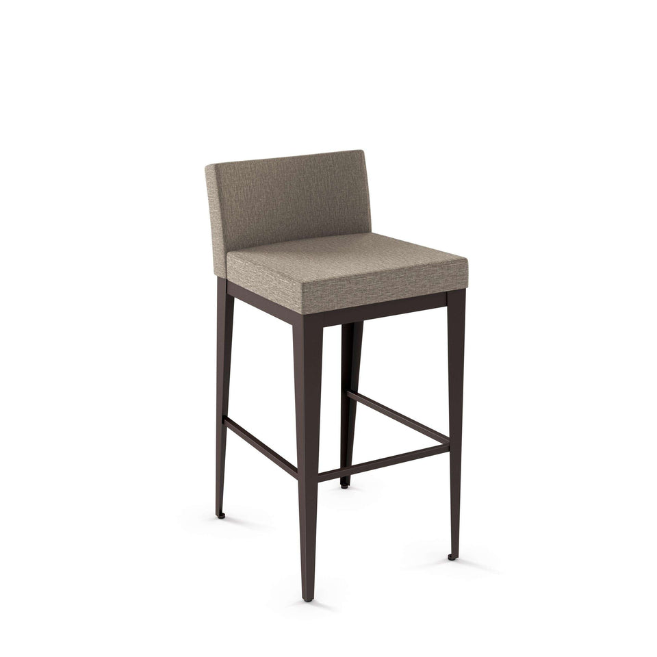 Ethan Non Swivel Bar Stool with Upholstered Seat and Backrest