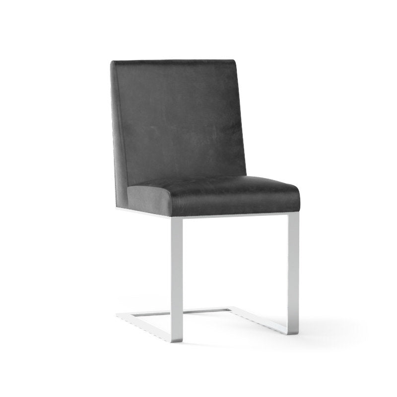 Sunpan Dean Dining Chair - Stainless Steel - Cantina Magnetite