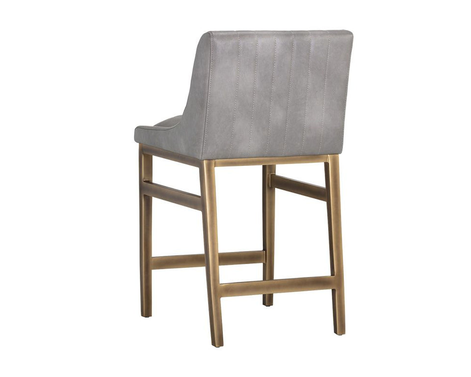 Sunpan Halden Counter Stool - Bravo Metal