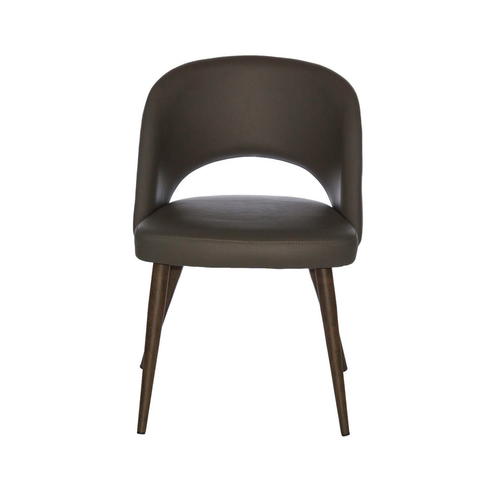 Furnishings Mate Henrick Chair - Walnut Steel Base