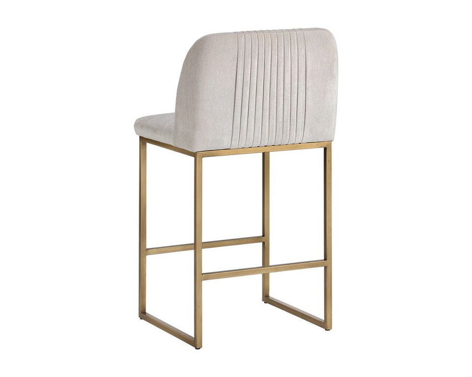 Sunpan Nevin Counter Stool - Polo Club Muslin