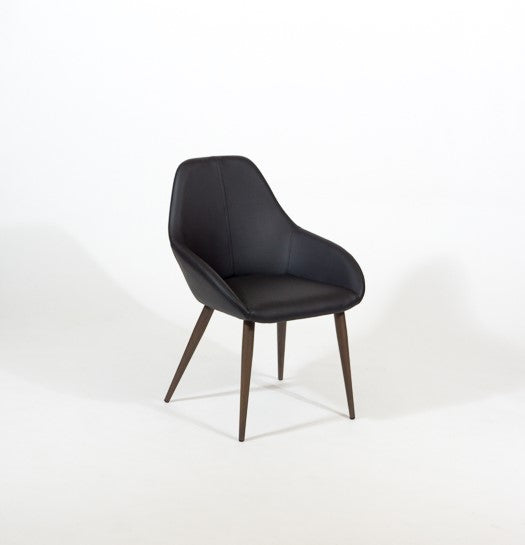 Furnishings Mate Shindig Chair - Walnut Steel Base